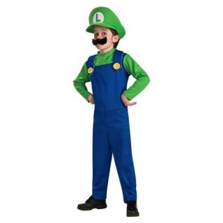 Super Mario Luigi Boys Costume Size 4 6