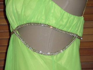 Brand New MARY.L COUTURE Lime Green Drag Queen Dress 12