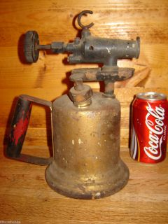 Antique Brass Blowtorch No Makers Mark A Classic Mancave Display Item