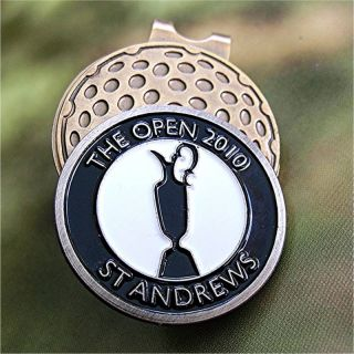 2010 British Open St Andrews CJ Ball Marker Hat Clip