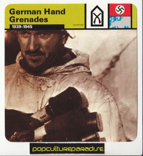 German Hand Grenades Potato Mashers Weapons WW2 Card