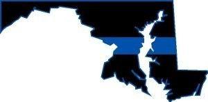 Thin Blue Line Maryland 4 x 2