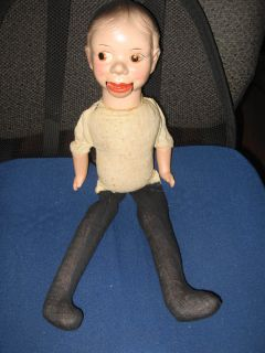 RARE 1930s Charlie McCarthy Ventriloquist Dummy Doll Composition