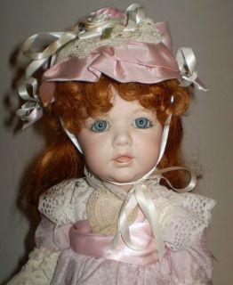 Mary Ellen Charles Tara Doll Full Porcelain Red Head Blue Eyes 19 High