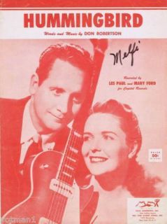 Hummingbird Les Paul and Mary Ford 1954 Vintage Music
