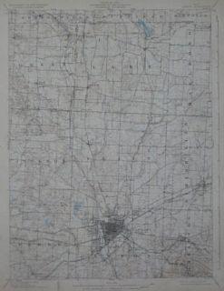 1903 Canton Massillon Electric Rrailroad Map Stark County Ohio