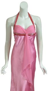 Mary L Couture Pink Satin Dress Gown Size 4 Prom Wedding Formal