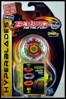 Beyblade Metal Fury Hyperblades Phantom Orion Stamina BB 118 FX