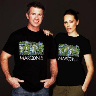 New Maroon 5 Five Tour 2012 Black Tee Shirt s M L XL 2XL