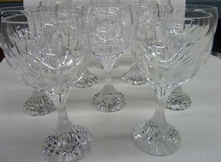 Baccarat France Massena 6 5  Crystal Wine Goblets Glasses Lot of 4