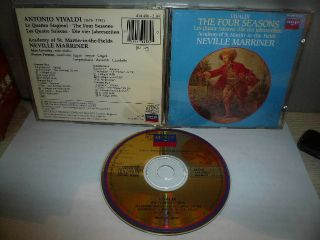 Neville Marriner Vivaldi The Four Seasons Japan Gold CD