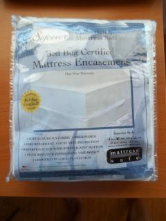 MATTRESS SAFE MATTRESS ENCASEMENT L TWIN WATERPROOF PROTECTOR BED BUG