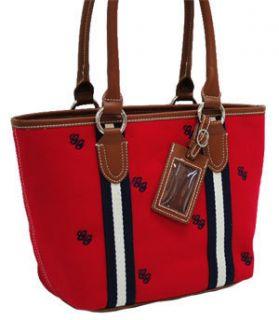 Preppy Classy Red Embroidered Design Handbag Purse Tote