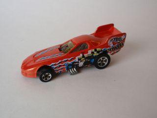 Hot Wheels Mattel 1977 Orange Dragster Toy Race Car Power Retro