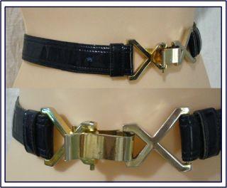 Signed Morris Moskowitz Woman s Vintage Blue Patent Leather Belt