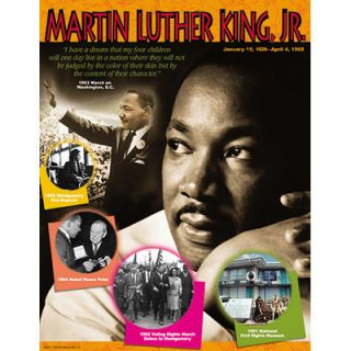 Martin Luther King Jr History Trend Poster Chart New
