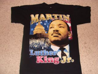 Martin Luther King 2 Sided T Shirt Washed But Never Worn With Malcolm