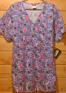 NWT SCRUBS DICKIES MATERNITY MEDICAL UNIFORMS TOP WOMENS SZ L V NECK