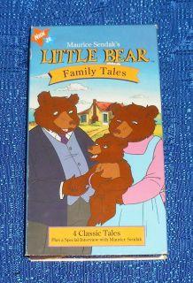 Maurice Sendaks Little Bear Family Tales VHS 1997 Good Used Classic