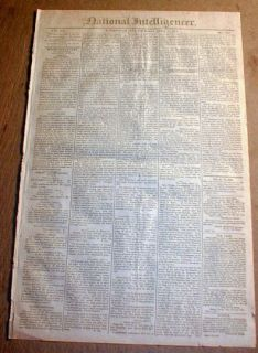 1812 newspaper FT MEIGS on MAUMEE RIVER Ohio under attack by Indians
