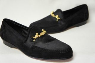 Mauri Black Pony Hair and Suede Loafer Dress Shoes Sz 9 5 M EUC