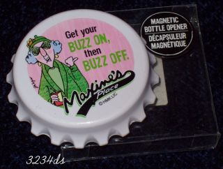 Hallmark Maxine Magnetic Bottle Opener Get Your Buzz on Then Buzz Off
