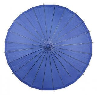 26 x 19 Ocean Blue Paper Wedding Decor Parasol Umbrella