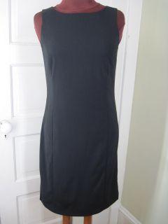 Max Mara Italy Jet Black Sheath Dress 8