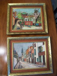 Prints On Cardboard By Maurice Utrillo Eglise De Stains, Montmartre