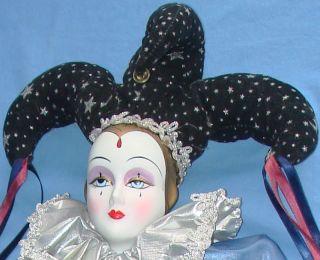 Dynasty Bisque Porcelain Maurice Harlequin Jester Doll