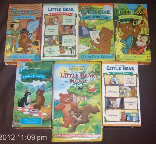 LITTLE BEAR Vhs Video Lot Maurice Sendak Nick Jr. FRIENDS Pretend