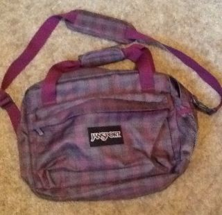 Jansport Messenger Bag Book Bag Grey Purple Pink