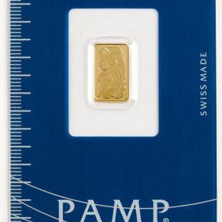 GRAM FORTUNA PAMP SUISSE 24K GOLD BAR .9999 SEALED MANUFACTURERS