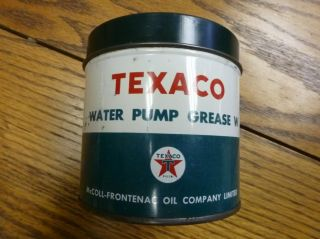 Vintage Texaco Pump Grease w Can McColl Frontenac Oil Co
