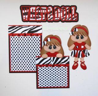 Premade Mat Set Paper Piecing Scrapbook Page Album Girl Baby Doll