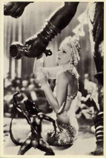 Beautiful Movie Actress Photograph Mata Hari 1931 Film Postcard