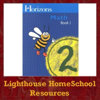 Alpha Omega Horizons Math Grade 2 Book 1 Homeschool New 1580959466