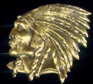 Red Indian McColl Frontenac RARE Lapel Pin Hat Pin Service Pin Brass