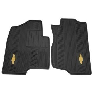 Chevrolet Avalanche All Weather Floor Mats Front Ebony 12499639