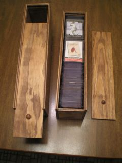 Wooden Storage Boxes for Sports Cards Lot of 3