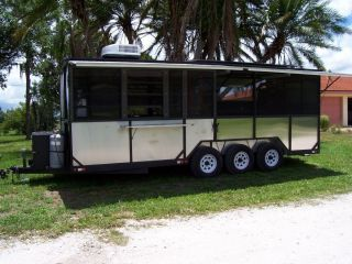 Meadow Creek BBQ Concession Trailer with TS250 Smoker Pit Cooker