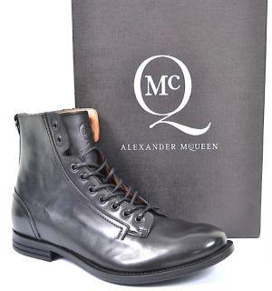 MCQ ALEXANDER McQUEEN MENS LEATHER ANKLE BOOTS BLACK UK 10 EU 44 US 10