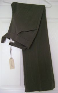 NEW! STUDIO M by MAX STUDIO 0 OLIVE GREEN BOOTCUT SPANDEX DRESS PANTS