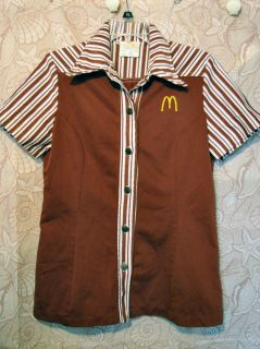 McDonalds Uniform Work Shirt Smock WomenS