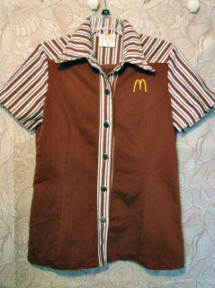 McDonalds Uniform Work Shirt Smock WomenS