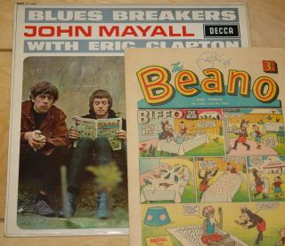 JOHN MAYALL BLUES BREAKERS WITH ERIC CLAPTON UK DECCA LP SINGED 1966