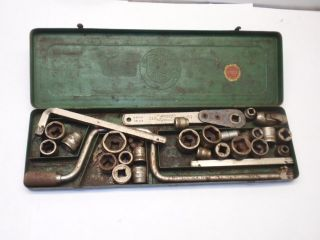 Metal Products Co Chicago 651 Wrench Set Tool Wrenches Mechanic