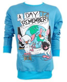 Day to Remember Jeremy McKinnon ADTR Rat Mouse Blue Sweater Jumper s