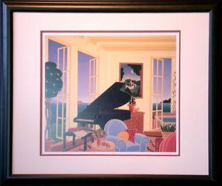 Thomas McKnight Swan Sea Festival Print Framed