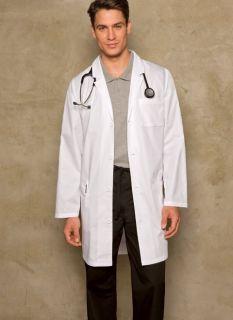 Dickies Medical Scrubs White Unisex Lab Coat 37 Sz XL